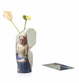 Pepe Heykoop Papieren Vaas Cover Milkmaid by Vermeer Large