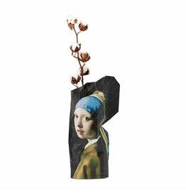 Pepe Heykoop Papier Vase Abdeckung Girl with the Pearl Earring Groß