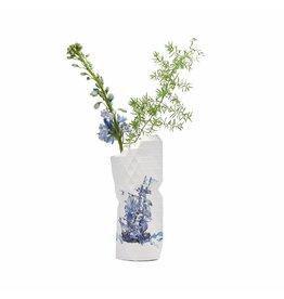 Pepe Heykoop Papier Vase Abdeckung Delft Blue Klein