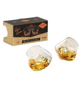 Gentlemen's Hardware Whiskey Glazen Set van 2