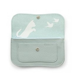 Keecie Portemonnee Cat Chase Medium Dusty Green