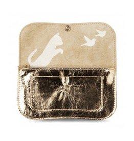Keecie Geldbörse Cat Chase Medium Gold