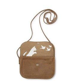 Keecie Tas Cat Chase Bag  Cognac Used Look