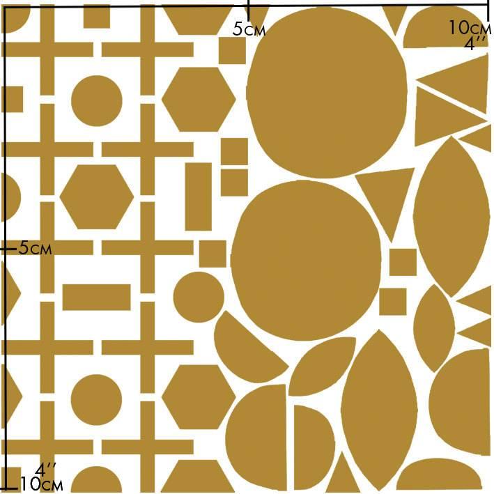 Nuukk Porzellan-Aufkleber Golden Geo