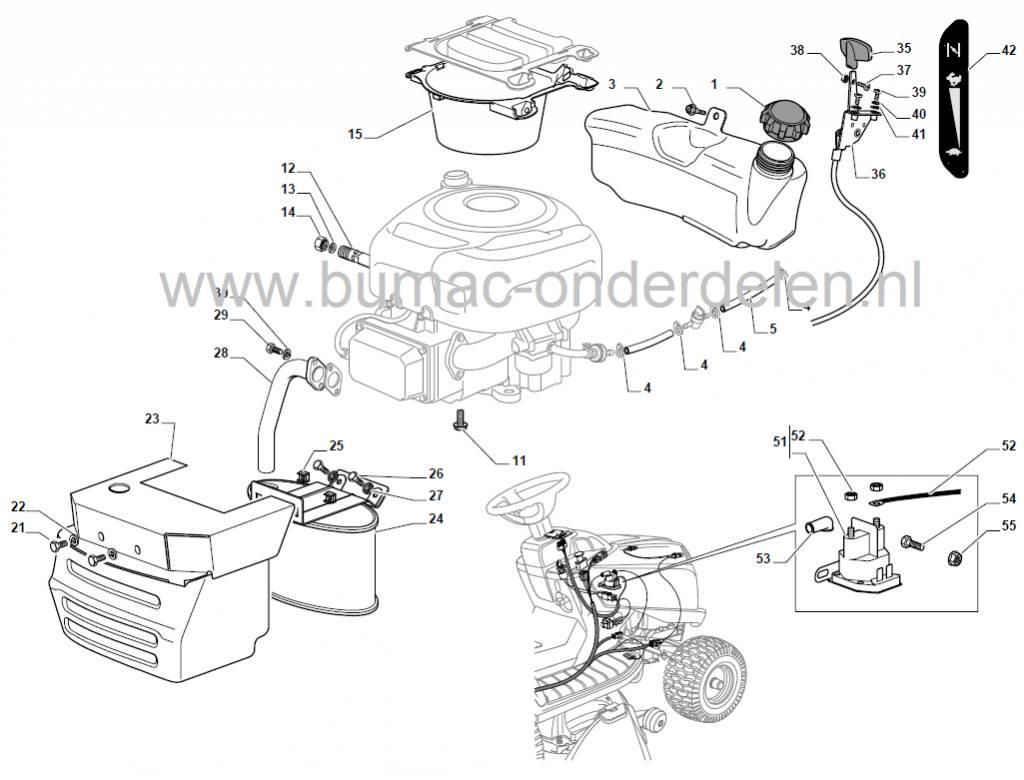 Honda Lawn Mower Parts Diagram Gaskabel voor Castelgarden XD98 - XD140 - XDL170 - XDL190HD - L185BH ...
