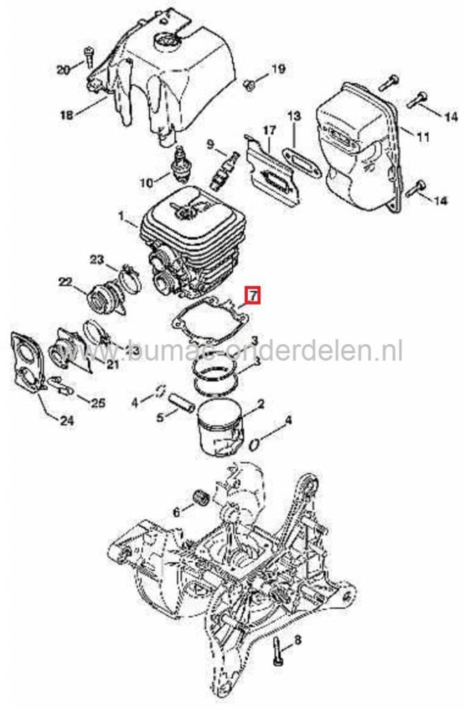 cilinderpakking stihl ts410 en ts420  motorslijper