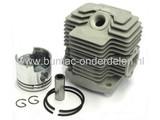 KAWASAKI Cilinder Compleet voor TH43, Bosmaaier - Trimmer - Strimmer, Kawasaki Complete Cilinder Set met Zuiger - Zuigerveren en Pistonpen