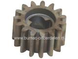 Aandrijf Tandwiel 15T CASTELGARDEN - STIGA - MOUNTFIELD - ALPINA Grasmaaiers oa Modellen Turbo 46 - Collector 46 - SP180, Loopmaaier - Benzinemaaier - Cirkelmaaier - Duwmaaier
