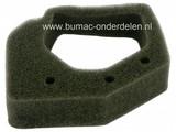 Luchtfilter HONDA voor GX25 en GX35 Motoren op Bosmaaier - Bermmaaier - Strimmer, Lucht Filters van Schuim, Spons