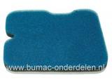 Luchtfilter voor Dolmar - Makita - Wacker Motorslijpers DPC6430 - BTS935L3 - BTS1030L3 - BTS1035L3 - BTS1140L3, Schuimfilters, Luchtfilters van Schuim voor Doorslijper - Bandenzaag - Doorslijpmachine