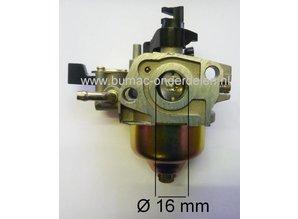 Honda Carburateur voor GXV120 Motor op Grasmaaier - Gazonmaaier - Hakfrees - Motorkruiwagen Carburator GXV 120 Motor