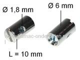 Schroefton voor Binnenkabel T/m Ø 1,8 mm Geleverd per 4 Stuks voor het zelf Samenstellen van een Bedieningskabel Gaskabel - Chokekavel - Remkabel - Stuurkabel, Schroefton met Oog - Z Haak of Ton