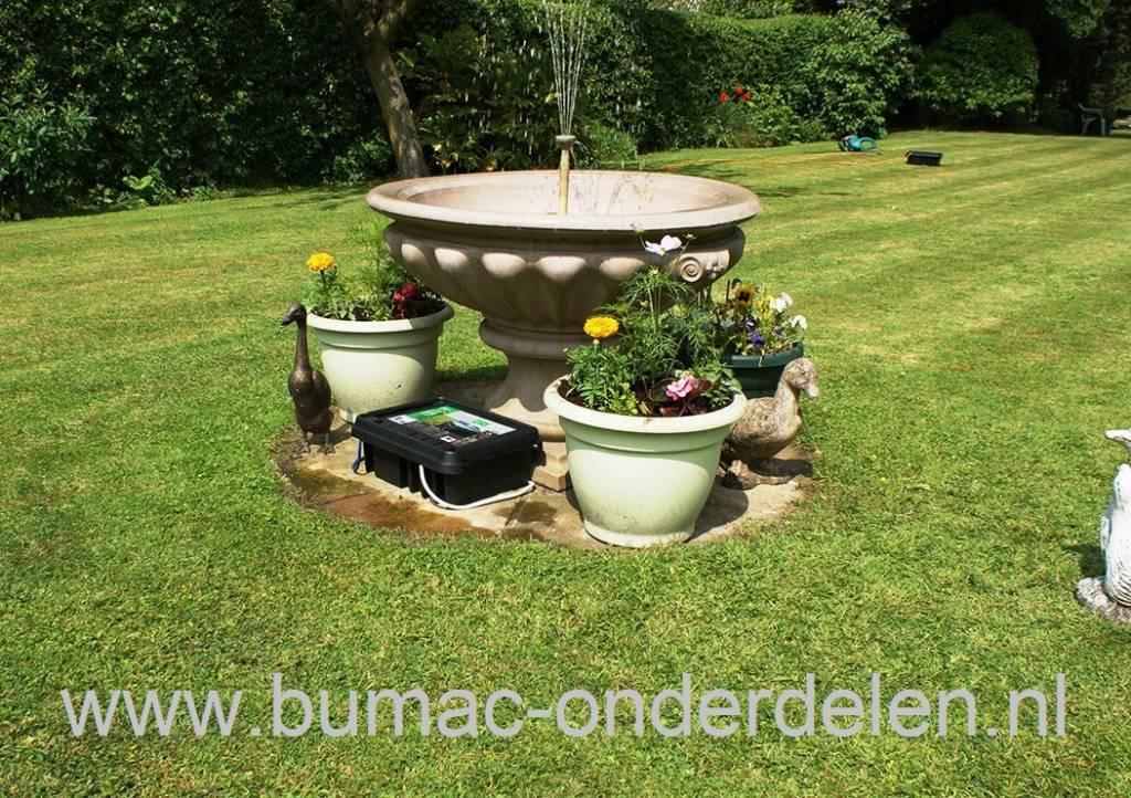 Box voor waterdichte en veilige stroomverdeling for Tuin verbouwen