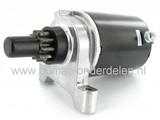 Startmotor voor Tecumseh Motoren OHV110, OHV115, OHV120, OHV125, OHV130, OHV135, OV358EA, OH50, OHH50 met 10 Tands Bendixtandwiel op Zitmaaier, Frontmaaier, Tuintrekker