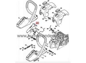 Bovenste Handgreep voor Stihl MS171, MS181, MS211 Kettingzaag, Handvat Afdekplaat voor Stihl MS 171, MS 181 en MS 211 Motorzagen