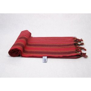 "MyHamam Hamamdoek ""Keshan"" Rood kleurrijke strepen"
