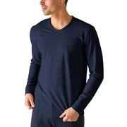 Mey Cotton Rib Long Sleeved Shirt Yacht Blue