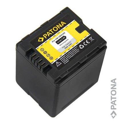 Patona Replacement Battery for Panasonic VW-VBN260 VBN260E VBN130 VBN130E VBN260
