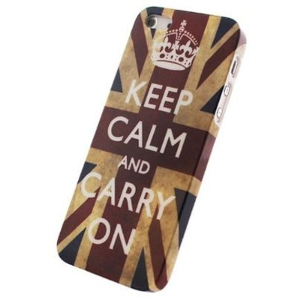 Batts Retro Union Jack Keep Calm hard cover hoes voor Iphone 5