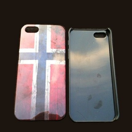 Batts Retro Noorse Norwegian flag vlag iPhone 5 cover - Noorwegen