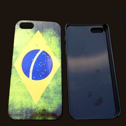 Batts Retro Brazilië Braziliaanse flag vlag iPhone 5 cover - Brazil