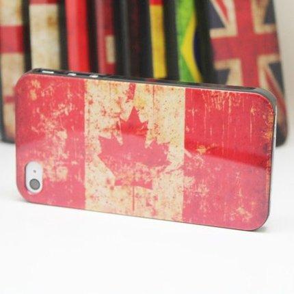 Batts Retro Canada Canadese flag vlag iPhone 4 cover - Canadian flag cover