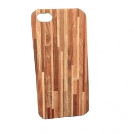 Batts Wood Leather Skin Hard Case for iPhone 5