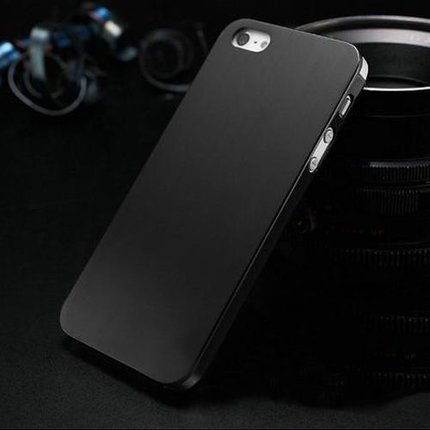 Batts Luxe aluminium IPhone 5 hoes - 0.3 mm dikke zwarte aluminium hoes