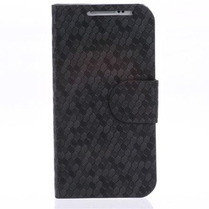 Batts Grain Leather Case for Samsung Galaxy S4 Mini i9190 with Card Holder and Stand Function