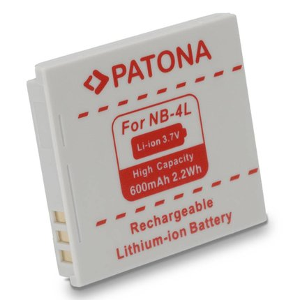 Patona Replacement Battery for CANON NB-4L NB4L, Ixus 30,40,50,55,60,65,70,75,8