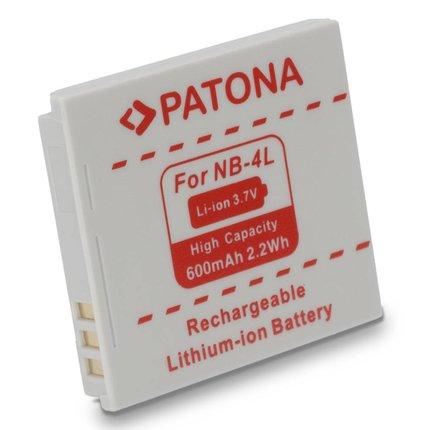 Patona Vervangende accu voor CANON NB-4L NB4L, Ixus 30,40,50,55,60,65,70,75,8