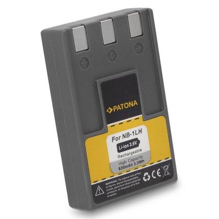 Patona Batterij Canon NB1LH, 830mAh, 3.6V