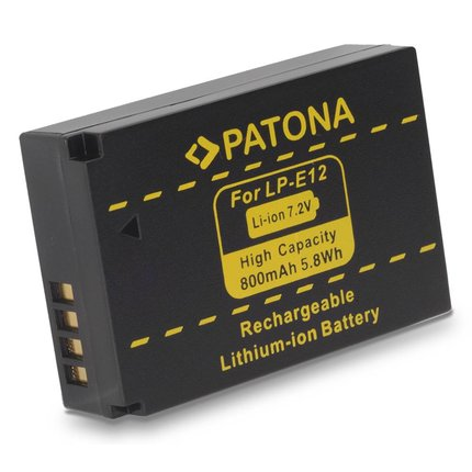 Patona Accu voor Canon LPE12 LPE-12 Canon EOS M - 1141