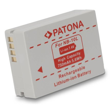 Patona Vervangende accu voor Canon NB-10L NB10L Powershot SX40 HS Powershot SX-40HS SX40HS - 1097