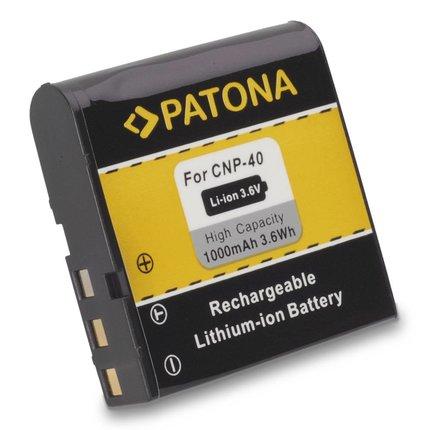 Patona Accu Casio NP40 EX-Z30 EX-Z40 EX-P600 Z100 - 1024