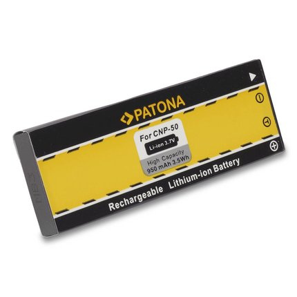 Patona Battery f. Casio Exilim EX-V7 V-7 EX-V8 V-8 NP-50 NP50 - 1025