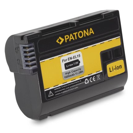 Patona Replacement Battery for Nikon EN-EL15 ENEL15 f. V1 NIKON D7000 D800 D800 - decoded