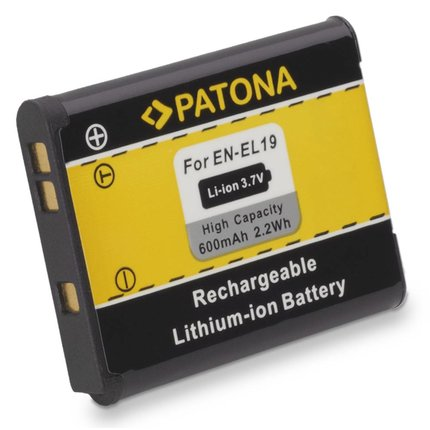 Patona Battery for Nikon CoolPix S4100 S3100 S2500 EN-EL19 ENEL19