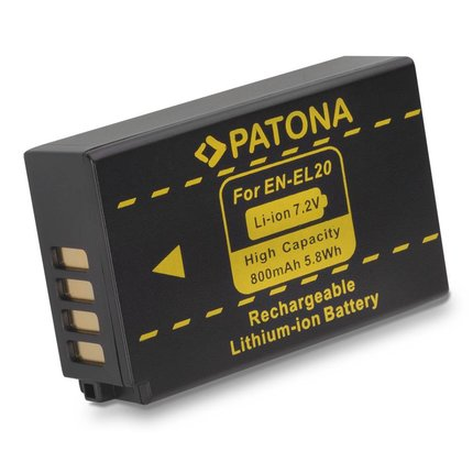 Patona Vervangende accu voor Nikon 1J1 EN-EL20 1 J-1 J1 ENEL20 - 1107
