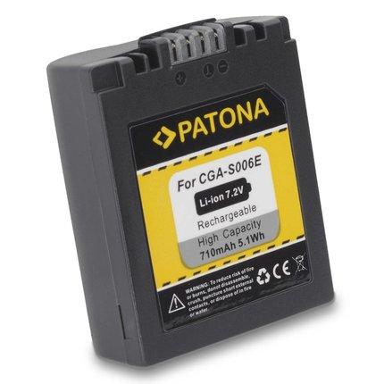 Patona Replacement Battery for PANASONIC S006 CGA-006E/1B Leica V-LUX1 DMC-FZ7