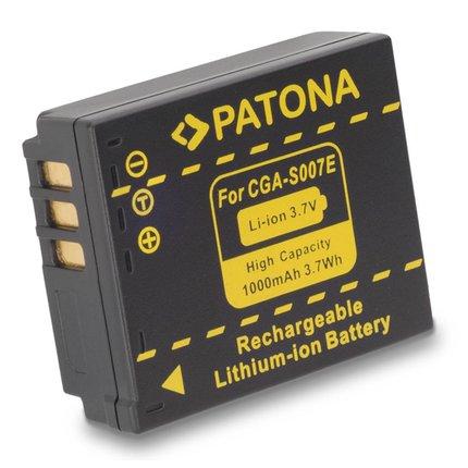 Patona Battery f. PANASONIC CGA-S007 S007 DMC-TZ5 TZ4 TZ3 TZ2 TZ1 - 1043