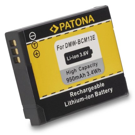 Patona Accu Panasonic DMW-BCM13 DMC-ZS30 DMC-TZ40 DMC-TZ41 DMC-TS5 DMC-FT5