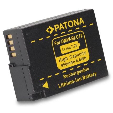 Patona Replacement Battery for Panasonic DMW-BLC12 E Lumix DMC FZ200 G5 BLC12 BLC12PP - 1138