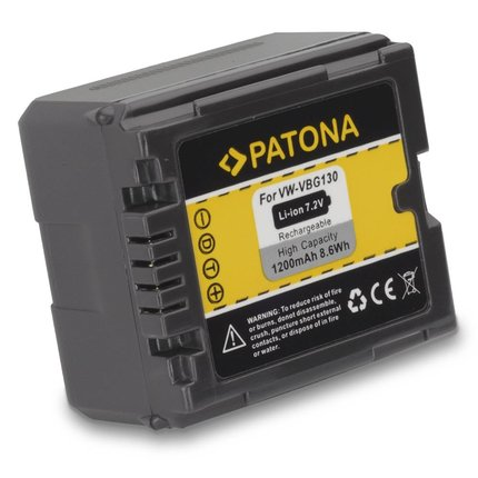 Patona Battery for Panasonic VW-VBG130 VW-VBG070 compatible to VW-VBG260
