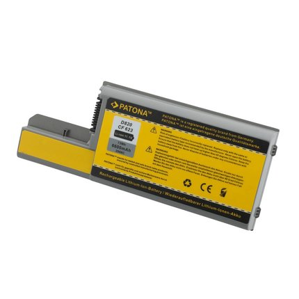 Patona Accu voor DELL Latitude D531 D820 D830 M4300 M65 - 6600mAh - meer vermogen