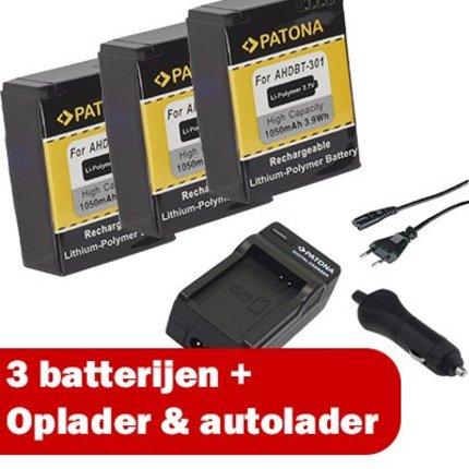 Patona GoPro Hero HD 3 Ultra Pack - 1653 + 3x 1150