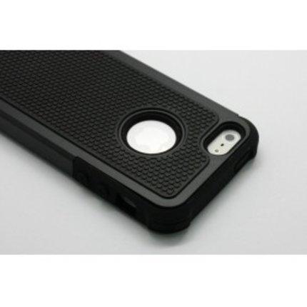 Batts Hybride Bumper Case voor iPhone 4 - zwart