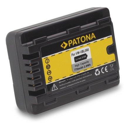 Patona Accu Panasonic HDC-SDX SDR-S50 T50 VW-VBL090E-K VBL090