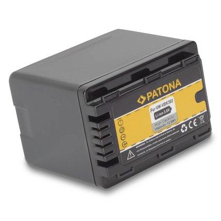 Patona Vervangende batterij voor Panasonic VW-VBK360 VBK360 VBK 360 met infochip