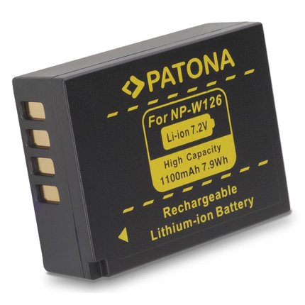 Patona Battery f. Fuji NP-W126 HS33 EXR Fujifilm FUJI Finepix -Pro 1 HS30 EXR